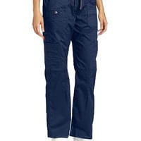 Dickies Women's Gen Flex Fit Contrast Stitch Cargo Pant, Navy, XX-Large