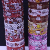 Sanrio Hello Kitty Taiwan 7-11 Limited 40th Anniversary 15mm Paper Tape 20 Complete Set