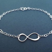 Gold filled, Sterling silver, Infinity, Sign, Gold, Silver, Bracelet