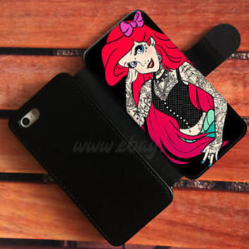 punk ariel Wallet iPhone cases The Little mermaid Samsung Wallet Phone Cases