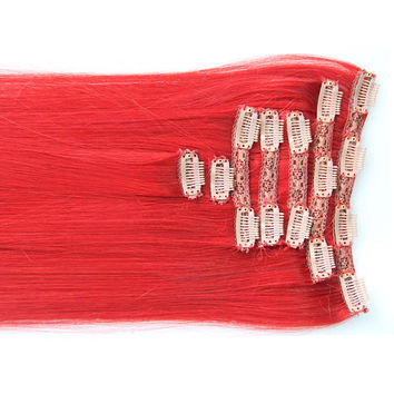"Red Carpet:  21"" Clip In 100% Human Hair Extensions"