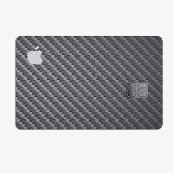 Textured Black Carbon Fiber - Premium Protective Decal Skin-Kit for the Apple Credit Card