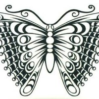 "Butterfly Temporary Body Art Tattoos 2.5"" x 3.5"""