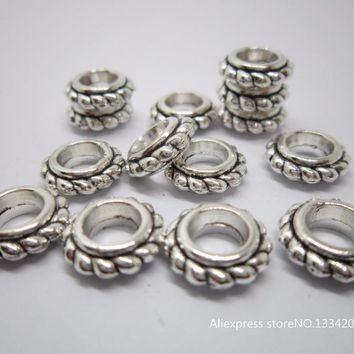 Free shipping 30Pcs/Lot Tibetan silver hair braid dread dreadlock beads clips cuffs approx 5.2mm hole