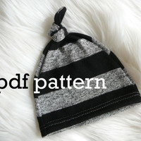 Knot top hat pattern. Two sizes- 0-6months and 6-12 months.  -With permission to sell finished items-