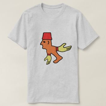 Strange creature with yellow glows and a red hat T-Shirt
