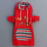 Sweet Red Cartoon Patch Sweater