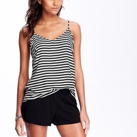 Women's Striped Low-Back Camis