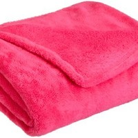 Northpoint Faux Fur Throw Blanket, Pink