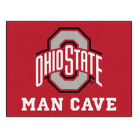 Ohio State Buckeyes NCAA Man Cave All-Star Floor Mat (34in x 45in)