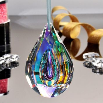 New 76mm Colorful Chandelier Glass Crystals Lamp Prisms Parts Drops Pendants Fashion