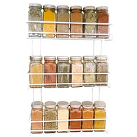 Evelots 3 Tier Wall Mounted Spice Rack, White (Minor Factory Defects)