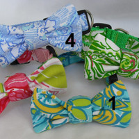 BOW ONLY for Dog Collar Made from Lilly Pulitzer by Lillyduds