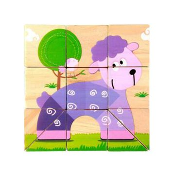 Educational Toy for Kids 3D Wooden Puzzle Jointed Board Cube Puzzle Building Block NO.24