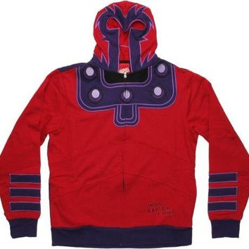 Magneto Costume X-Men Marvel Comics Zip Up Hoodie