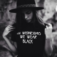 On Wednesdays We Wear Black Graphic Tops