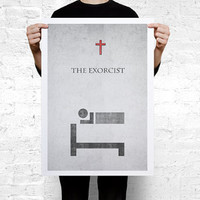 The Exorcist Movie minimal Poster A2 (594 x 420 mm / 23.4 x 16.5 in)