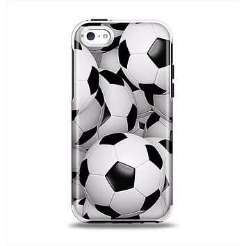 The Soccer Ball Overlay Apple iPhone 5c Otterbox Symmetry Case Skin Set