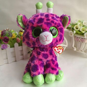 "Gilbert giraffe TY BEANIE BOOS 1PC 25CM 10"" BIG EYE Plush Toys Stuffed animals KIDS TOYS VALENTINE GIFT children toy car decor"