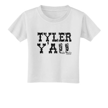 7480488207469 TooLoud Tyler Y all - Southwestern Style Toddler T-Shirt