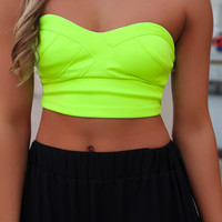 Finest Hour Crop Top - Lime