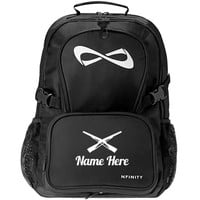Elite Color Guard Gear: Custom Nfinity Black Backpack Bag - Customized Girl