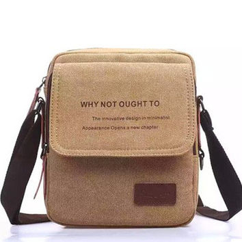 Men Canvas Korean Shoulder Bag [8921707399]