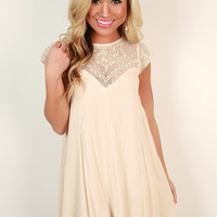 Romance in Venice Shift Dress in Cream