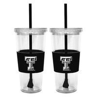 Texas Tech Red Raiders 2-pc. Double-Walled Straw Tumbler Set (Txt Team)