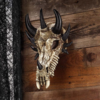 Park Avenue Collection Dragon Bones Skull Plaque