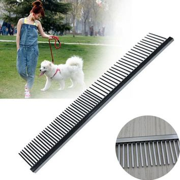 Asymmetric Steel Pet Hair Comb For Dogs And Cats