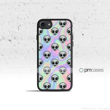Tie Dye Alien Emoji Case Cover for Apple iPhone & iPod Touch