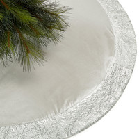 Holiday Lane Silver Sequin Border Tree Skirt, Created for Macy's - Christmas Home Decor - For The Home - Macy's