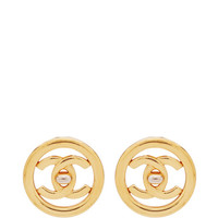Chanel Turnlock In Cicular Earrings by What Goes Around Comes Around - Moda Operandi
