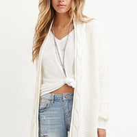 Mixed Knit Cardigan