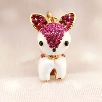 Earphone Jack Accessory 1pcs of Bling Lovely Rose Red Crystal Deer/ Dust Plug / Ear Jack For For Ip