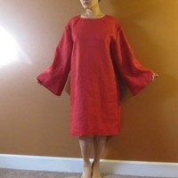 custom pure linen shift  dress made to fit listing