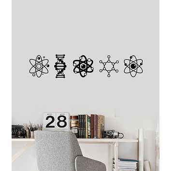 Vinyl Wall Decal Atoms Molecules Nuclear Science Lab Chemistry Stickers Mural (g1657)