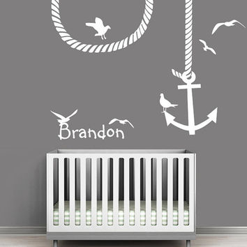 Nautical Nursery Wall Decor nautical nursery wall letters - popular nursery 2017