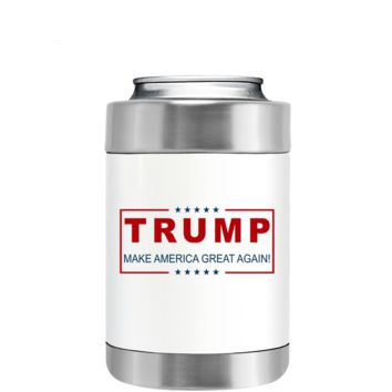 Trump Make American Great Again on White Can and Bottle Cooler