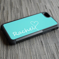 Tiffany Blue Monogram Hybrid iPhone Case - Plastic and Silicone Personalized with Photo or Design