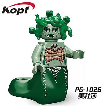Single Sale Super Heroes Medusa Gingerbread Man Inhumans Royal Family Bricks Building Blocks Collection Toys for children PG1026