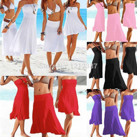 Mulyiple Beach Strapless Bikini Swimwear Cover Up
