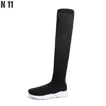 N11 New 2017 Women Boots Sexy Over The Knee High Women Snow Boots Women's Fashion Winter Thigh High Boots Shoes Woman