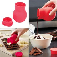 Practical Silicone Chocolate Melting Pot Butter Heat Milk Pourer Jug Mold Butter Sauce Milk Baking
