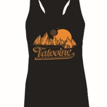 Star Wars Welcome to Tatooine Womens Tank Tops Ladies Sleeveless Tanks Shirt Girls Fashion Singlets Vest