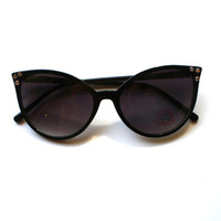 SPARKLEPUSSY- Super Pointy Cat eye Sunglasses with Rhinestone embellishments