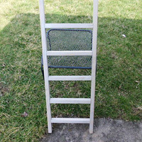 Reclaimed Wooden Ladder With Sunbleached Stain