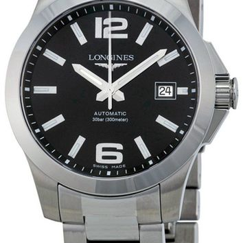 Longines Conquest Black Dial Men Automatic Watch L36764586 / L3.676.4.58.6