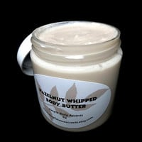 Hazelnut Whipped Body Butter, Vegan Natural Lotion, Gift under 10